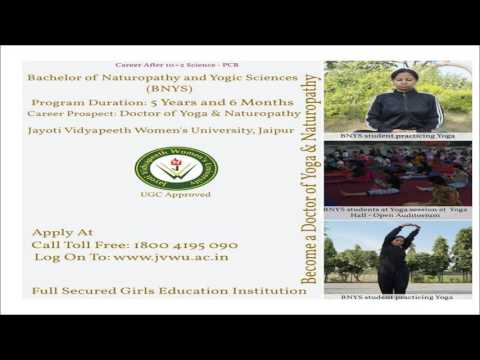 Admission Yoga & Naturopathy www.jvwu.ac.in