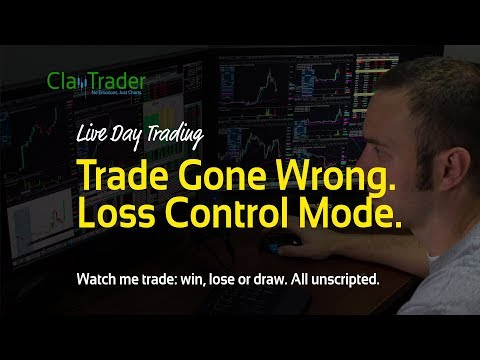 Live Day Trading - Trade Gone Wrong. Loss Control Mode.