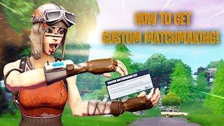 How To Get Custom Matchmaking Key in Fortnite! Works in Season 8!