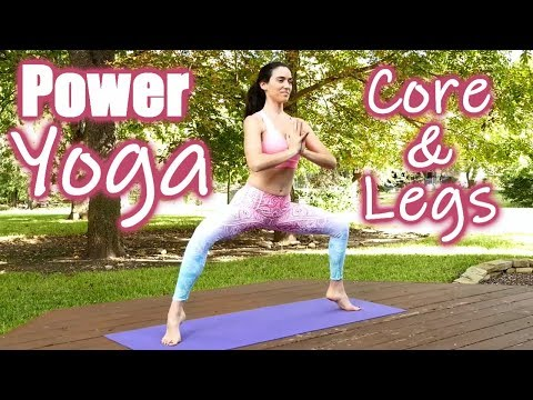 30-minute-power-yoga-for-waist-loss!-core-&-leg-strength-workout,-twist-away-belly-fat-&-metabolism