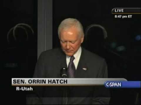 Edward Kennedy Memorial Service - Sen. Orrin Hatch (Part 2)