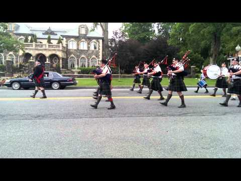 Galloway Gaelic Bagipes & Drums - Saratoga Springs Flag Day Parade - 6/8/2013