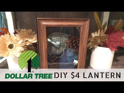 DIY Dollar Tree Lantern | $4 Farmhouse Lantern | Budget Friendly Rustic Decor |
