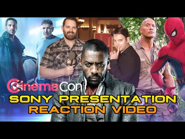 CinemaCon 2017: Sony Pictures Reaction Video - SPIDER-MAN, DARK TOWER, BLADE RUNNER 2049 & more!