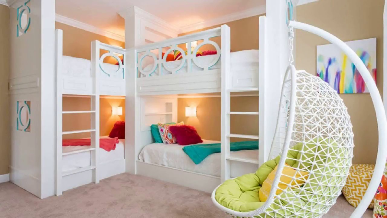 40+ Bunk Bed Ideas DIY For Kids Fort With Slide Desk For