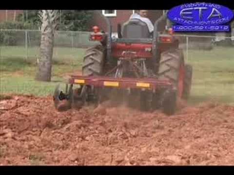 How to Disc Harrow a Garden Tractor 3pt Hitch YouTube
