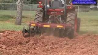How to - Disc Harrow a Garden, Tractor 3pt. Hitch