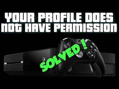 �★ HOW TO FIX ★ YOUR PROFILE DOES NOT HAVE PERMISSION