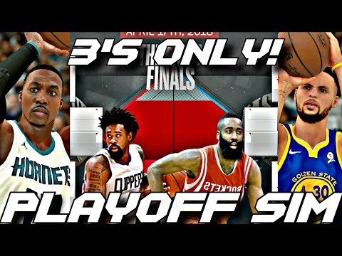 EVERYONE CAN ONLY SHOOT 3 POINTERS IN THE 2018 PLAYOFF SIMULATION ON NBA2K18!!!