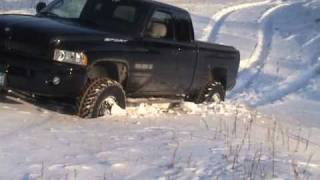 Dodge Ram Playing in the snow