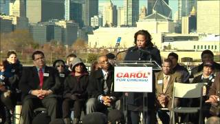 Carol Moseley Braun Announces Campaign for Mayor of Chicago (Part 1)