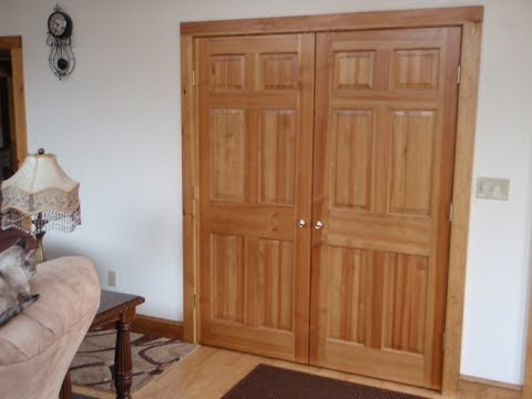 Double Closet Doors For An Easy Access To You Wardrobe