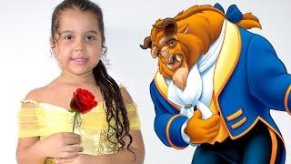 O SONHO DA BELA E A FERA - A Bela e a Fera em português - A Bela e a Fera princesas Disney