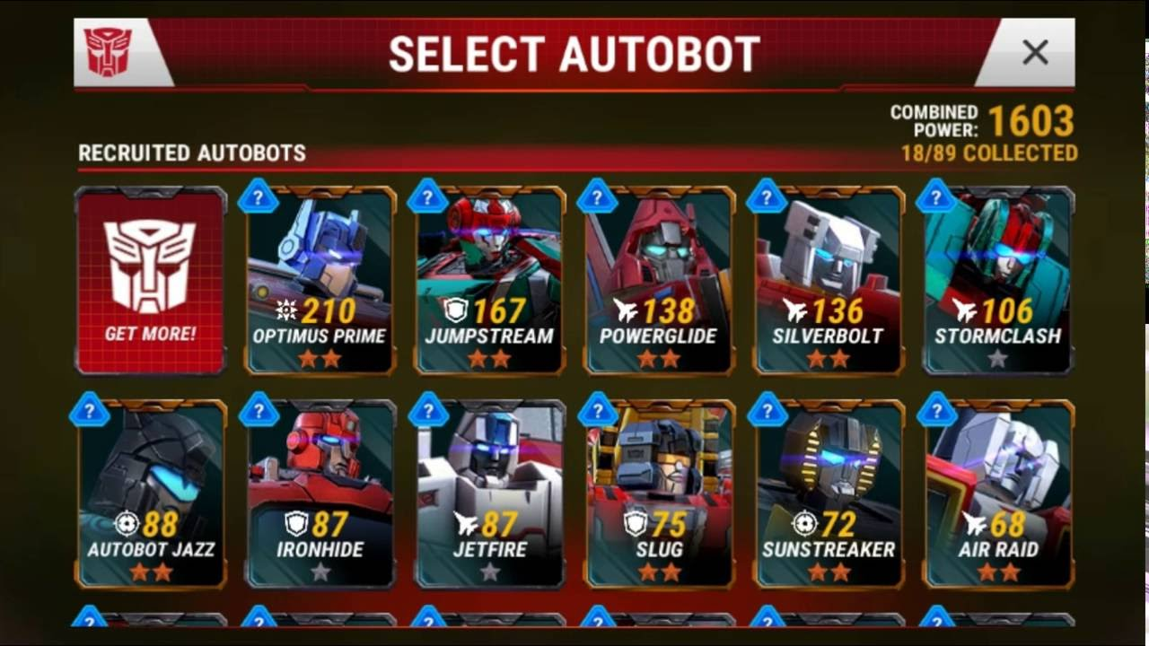 transformers earth wars how to get conbiners