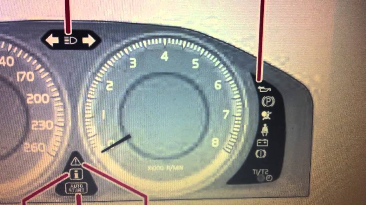 Volvo S60 Dashboard Warning Lights & Symbols - What They Mean