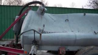 Implodiertes Güllefass (7000 liter)