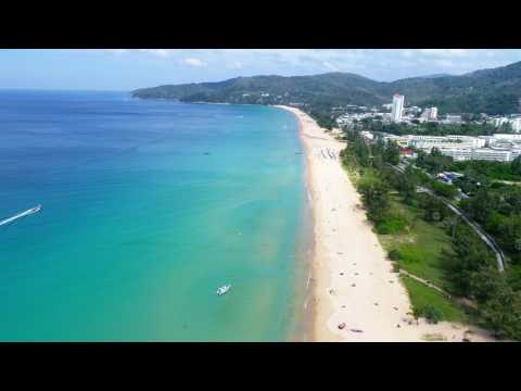 Karon Beach Phuket Thailand Drone Footage DJI Phantom 4 pro UAV