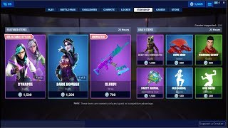 *NEW*Slurp Wrap & Dark Bomber Skin Back! Fortnite Item Shop June 17, 2019