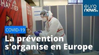 Masques, dépistages, applications : la prévention contre le Covid-19 s'organise en Europe