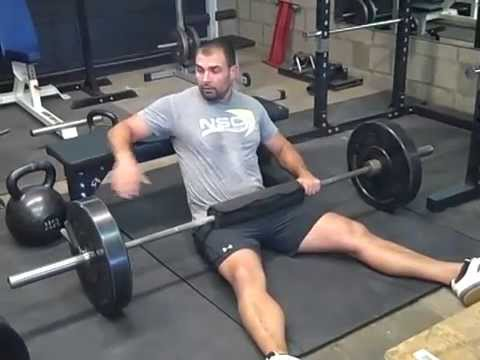 How To Get The Bar Into Position During Hip Thrusts
