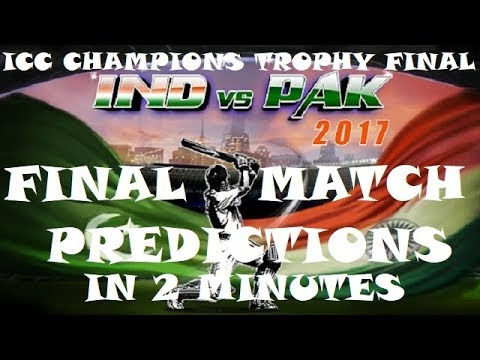India Vs Pakistan Final Match ICC Champions Trophy 2017 Match Preview | Match Prediction