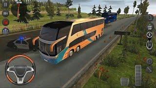 Modern Uphill Bus Simulator Off Road Snow Hill Winter Bus Driving screenshot 5