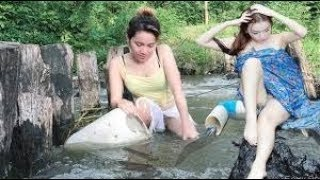 Troll Cmr @ Top 4 Primitive Technology Fishing Big Fish and Cooking