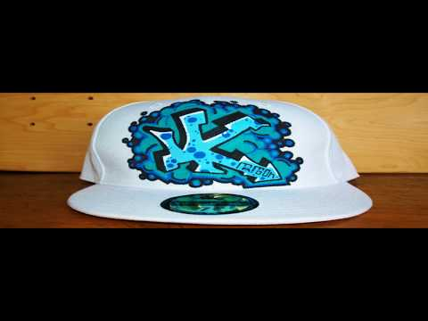 HOW TO GRAFFITI A HAT #5 letters street art tag draw spray paint tutorial hip hop artist new era cap