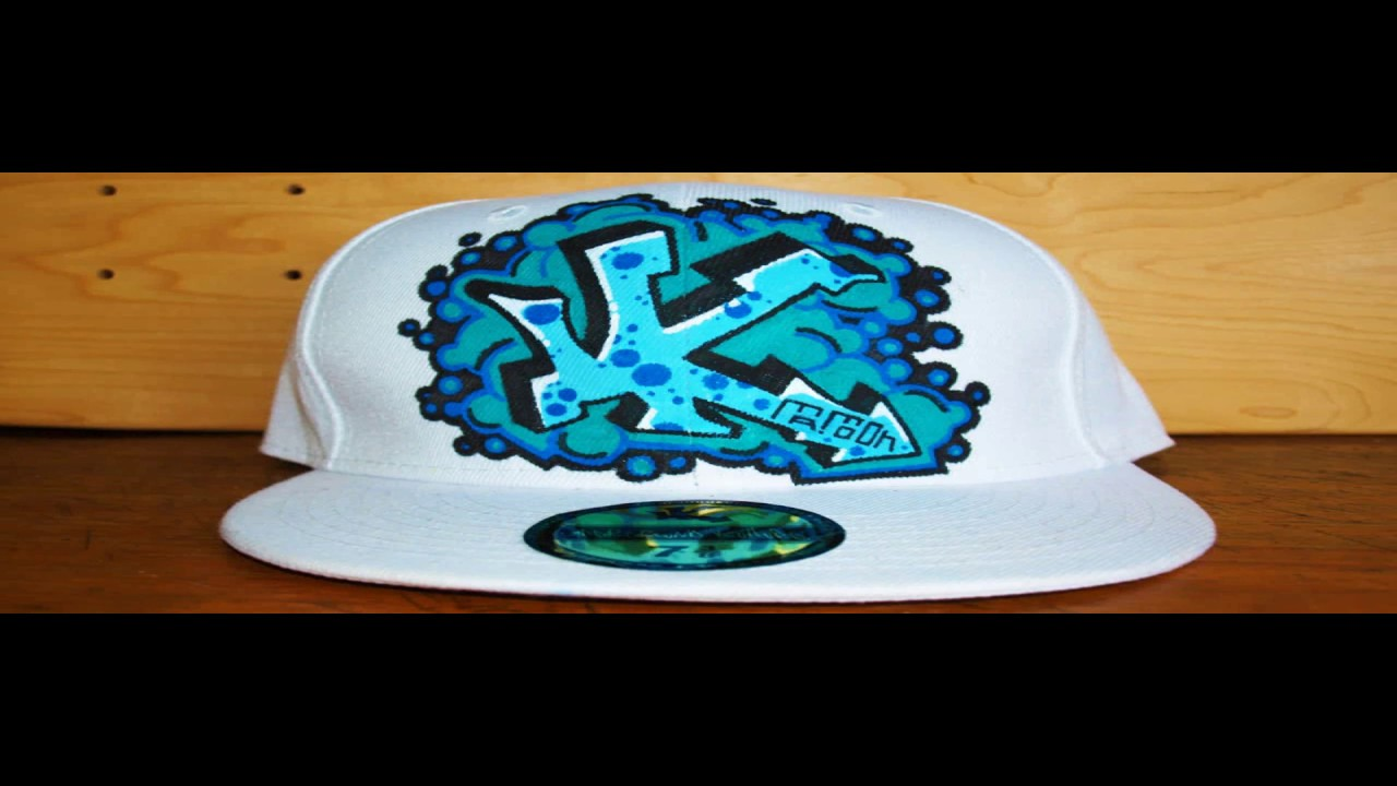 how to graffiti a hat 5 letters street art tag draw spray paint. Black Bedroom Furniture Sets. Home Design Ideas