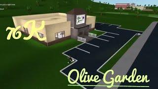 Roblox Bloxburg Olive Garden 76K