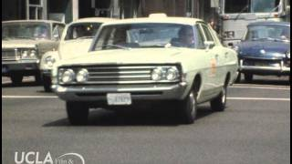 """KTLA News: """"Gas stations and heavy traffic in Los Angeles"""" (1973)"""