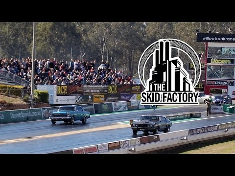 THE SKID FACTORY - V8 Turbo Ford Fairlane 1/4 Mile at All Ford Day