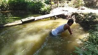 প্ৰথমবাৰ পুখুৰীত সা্ঁতুৰিলো    First Real Swimming Experience    Pond Swimming    Sankar Baishya