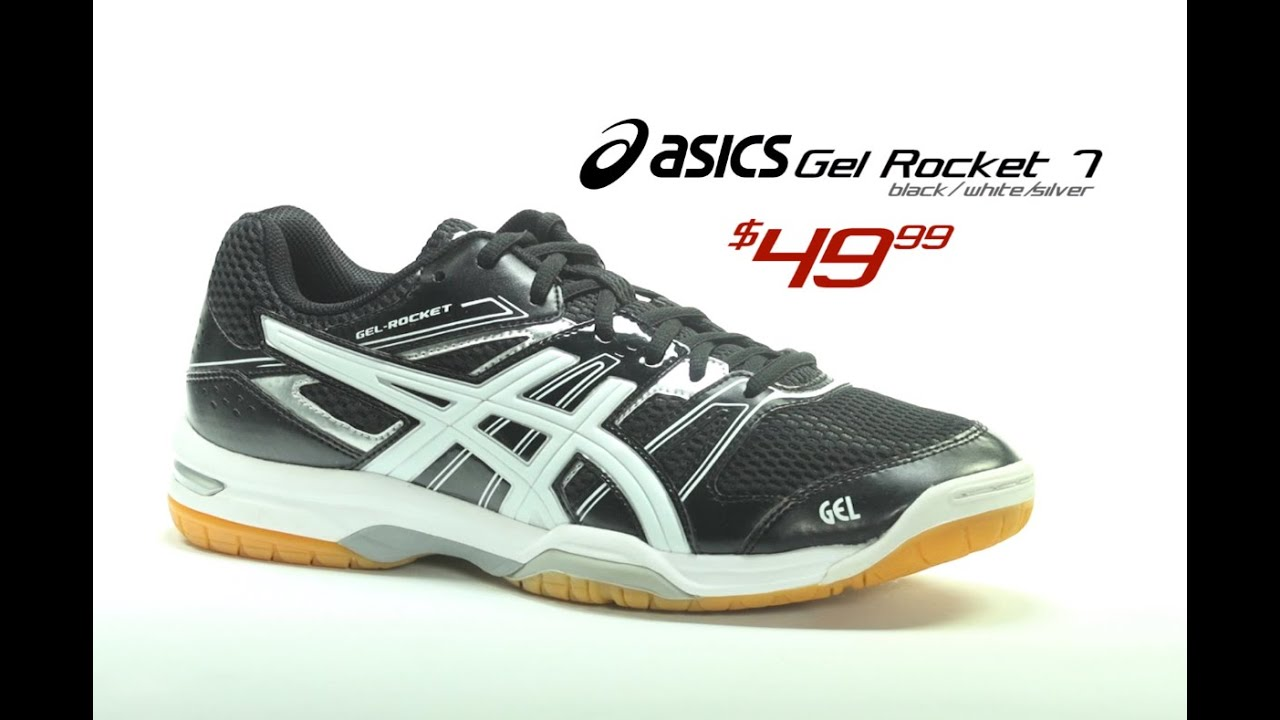 Gel-Rocket 7- Black/White/Silver sneakers