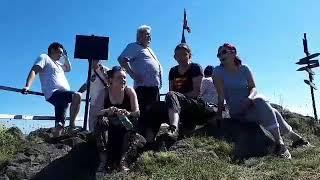 Članovi KUD Durmitor iz Kule, u poseti Mrkonjskomi visu i Ćorovom vodopadu