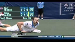 Andy Roddick Diving Forehand