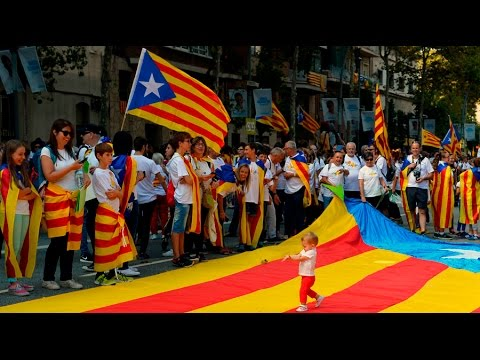 Hundreds of thousands rally for independence in Barcelona