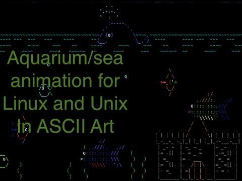 ASCIIQuarium - Sea Animation On Linux / Unix Desktop In ASCII Art