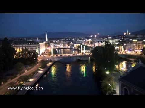 Beautiful Geneva City - Aerial shots and hyperlapses