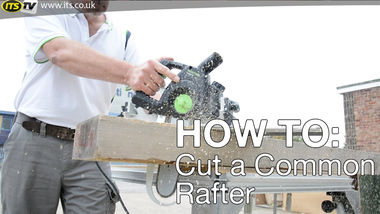 How To Cut A Common Rafter Its Tv Youtube