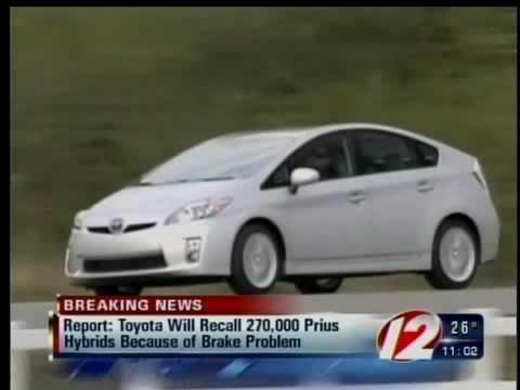 Tokyo Toyota Will Recall New Prius Over Brake Problems