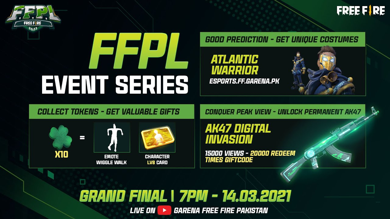 [14.03] Guide to get AK47 Digital Invasion permanent | FFPL Final Event series
