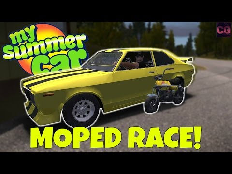 MOPED RACE + TRYING TO STEAL THE YELLOW CAR! - My Summer Car Gameplay Update - EP 27