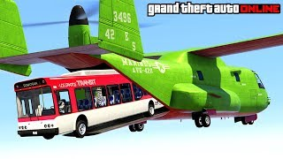 GTA 5: Online - Epic Stunts, Funny Moments, Fails & Glitches (Doomsday Heist Snowy Adventures)