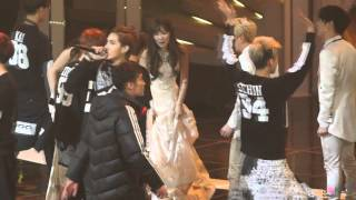vuclip 140116 EXO & Taeyeon [HanTae-Baekyeon-KyungTae-----] 28th Golden Disk Awards