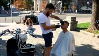 Haircut for the Homeless: Highend barber gives Kyiv homeless free makeover