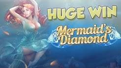 BIG WIN!!!! Mermaids Diamond Big Win - Casino - Bonus Round (Casino Slots)