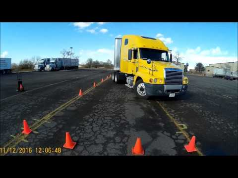 """Class A CDL Skills Test  """"Parallel Park Conventional"""" Video #10"""