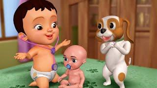 चिट्टी खेल रहा है डॉक्टर डॉक्टर - Playing with Toys | Hindi Rhymes & Kids Cartoons | Infobells
