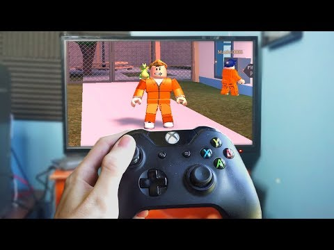 PLAYING JAILBREAK ON THE XBOX ONE! (roblox)